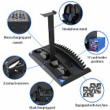 6-in-1 Vertical Stand Cooler Cooling Fan for PS4 /SLIM /PRO