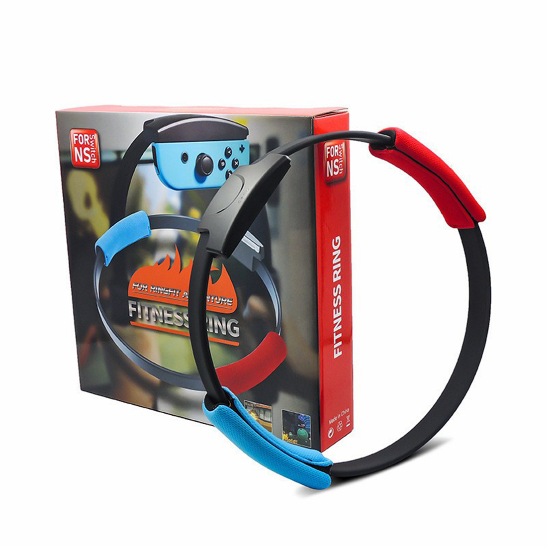 Fitness Ring with Leg Strap for Switch Ring Fit Adventure Game