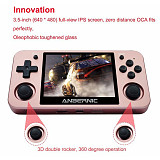 Anbernic RG350M Handheld Metal Version Game Console IPS Screen 3.5-Inch (16GB + 32GB 2400 Games)