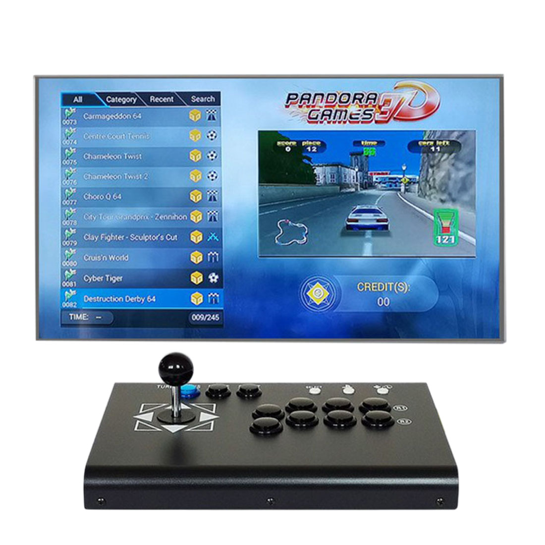 4018 Games 3D Pandora Games Console Fighting Game Machine (Host Console)