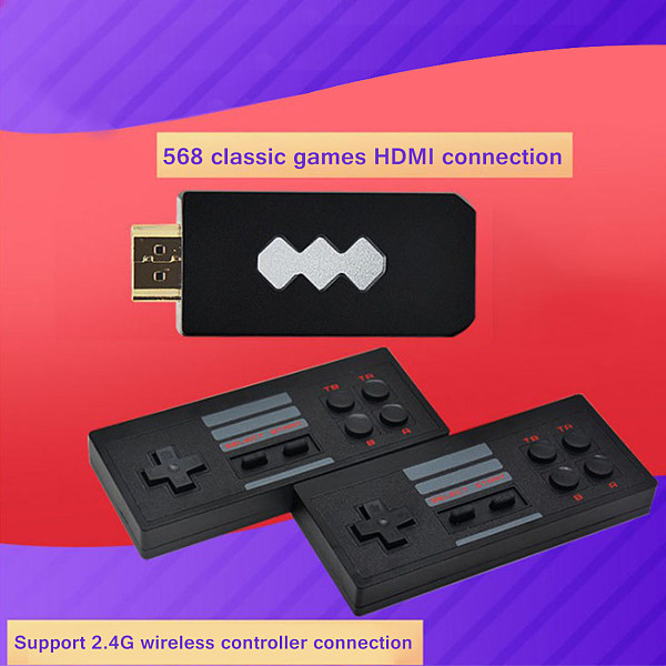Mini Game Box 568 Retro Games HDMI HD TV USB Stick Wireless Double Player