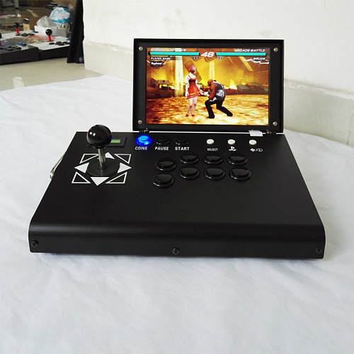 4018 Games 3D Pandora Games Console with Monitor Mini Clamshell Arcade 10-Inch HD Screen