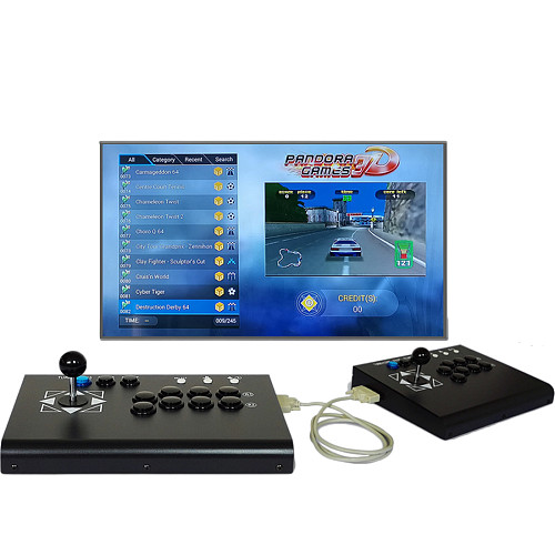 4018 Games 3D Pandora Games Console Fighting Game Machine (Full Set)