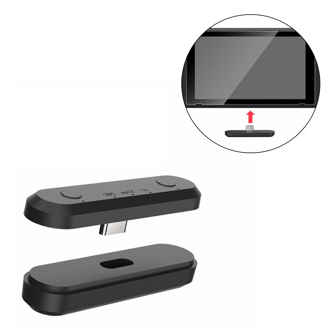 5.0 Bluetooth Receiver Wireless Earphone Receiver for NS /PC /PS4