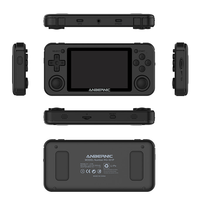Anbernic RG351P Handheld Retro Game Console IPS Screen 3.5-Inch (64G 2534 Games)
