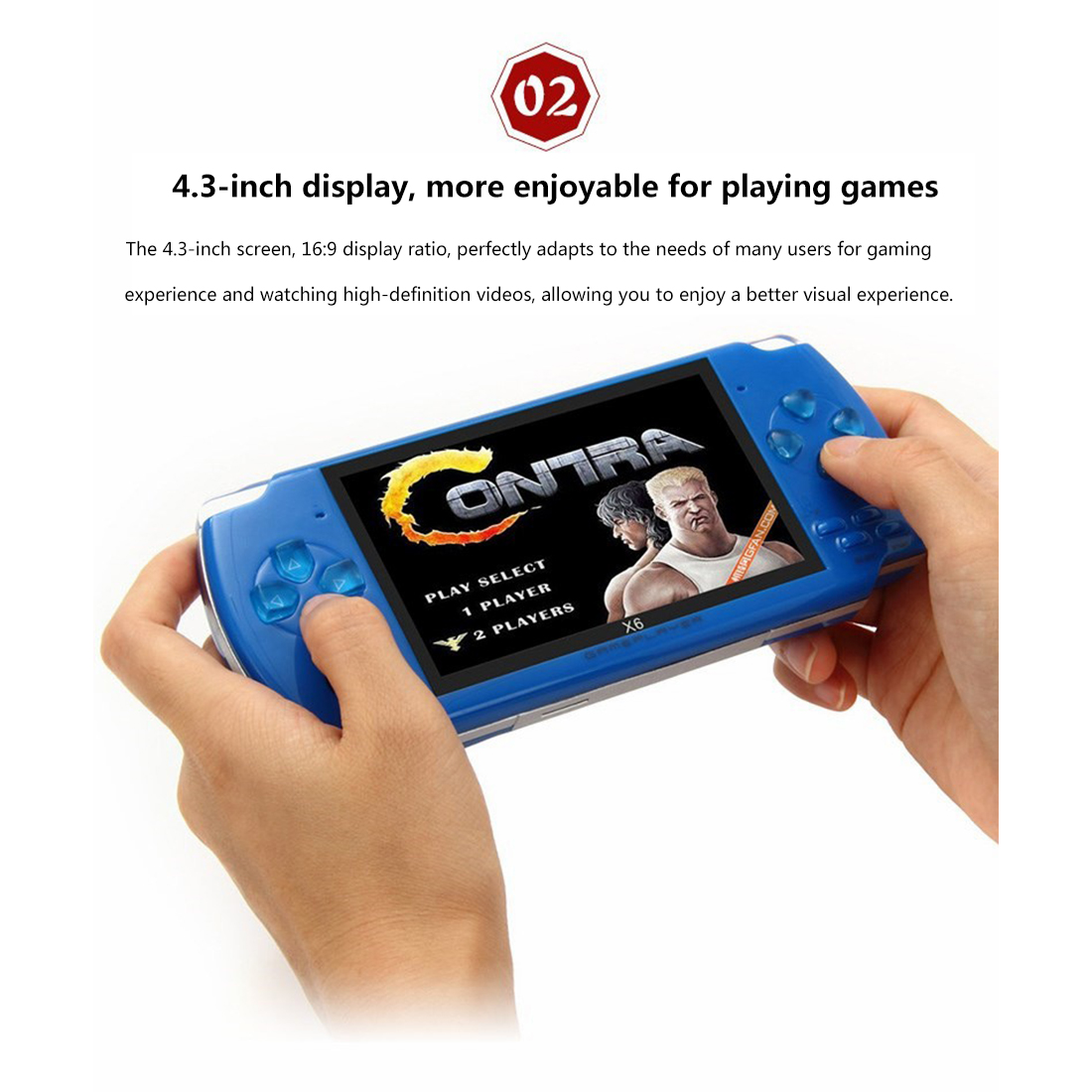 4.3-Inch Handheld Nostalgic Classic Game Player Portable Video Game Console
