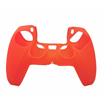 Silicone Case Anti-Slip Protective Cover for PS5 Controller - Red
