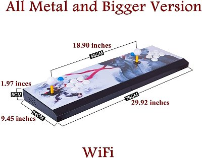 Pandora Box 18S Pro 4500 Games All-metal Bigger Version WiFi (Artwork: White Dragon)