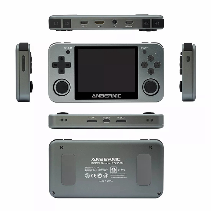 RG350M Handheld Metal Version Game Console