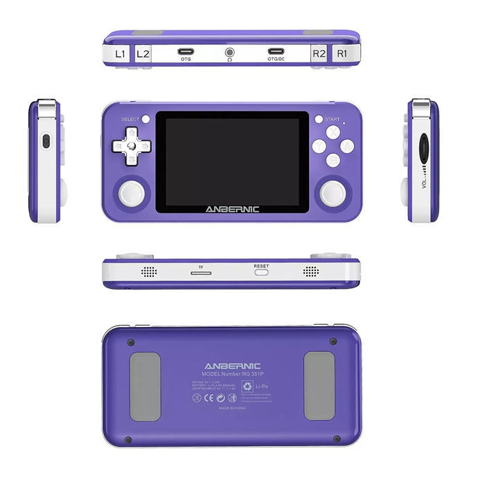 RG351P Handheld Retro Game Console IPS Screen 3.5-Inch (64G)