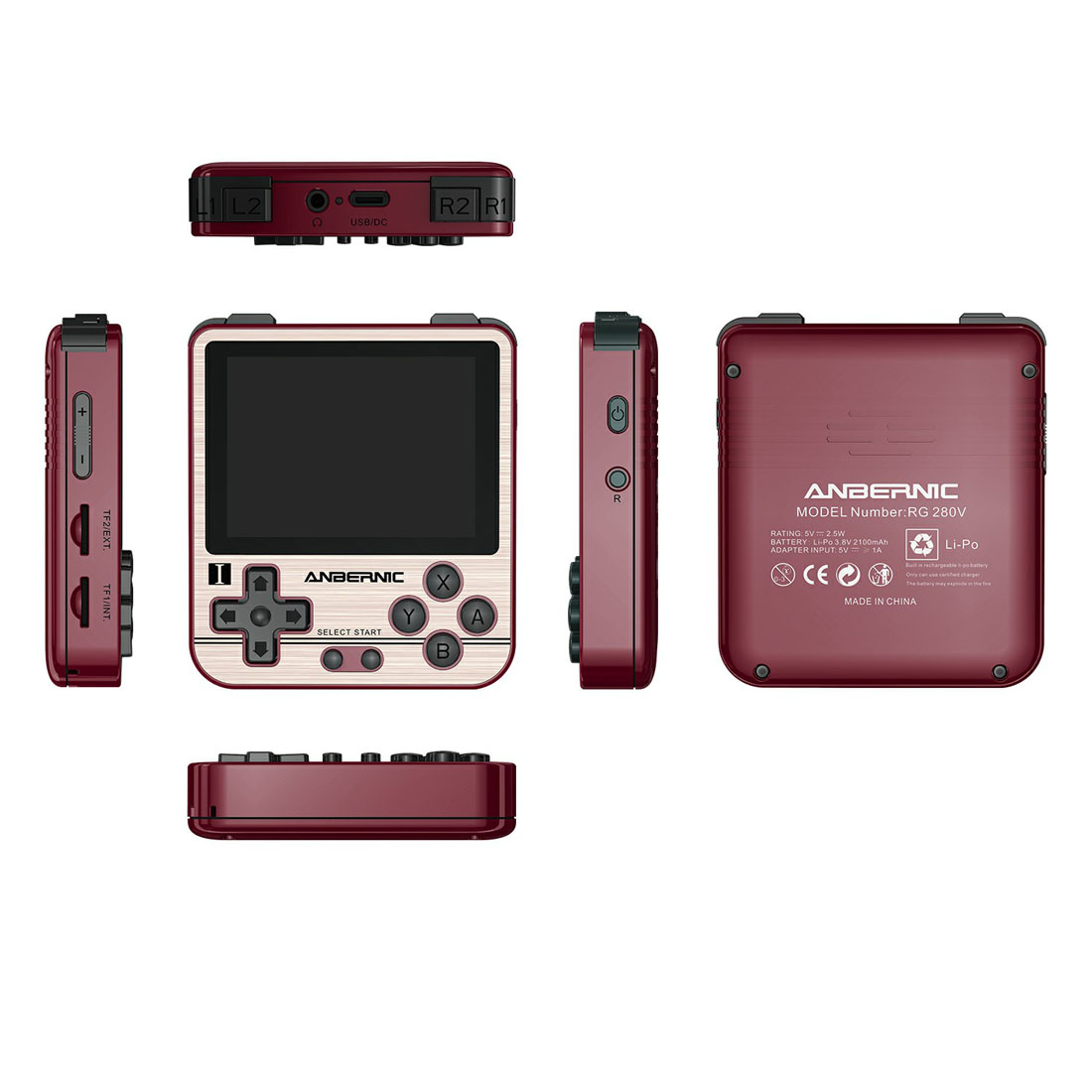 Anbernic RG280V Handheld 10,000 Games Portable Retro Console 2.8-Inch IPS Screen (64G)