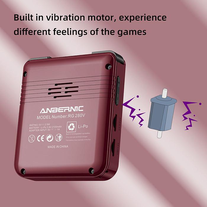 Anbernic RG280V Handheld 10,000 Games Portable Retro Console 2.8-Inch IPS Screen (64G)