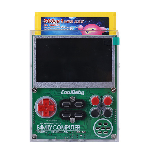 Cool Baby X7 Handheld 500 Games Card Retro FC Game Console 8-Bit Video Games DIY Hand-hard Solution