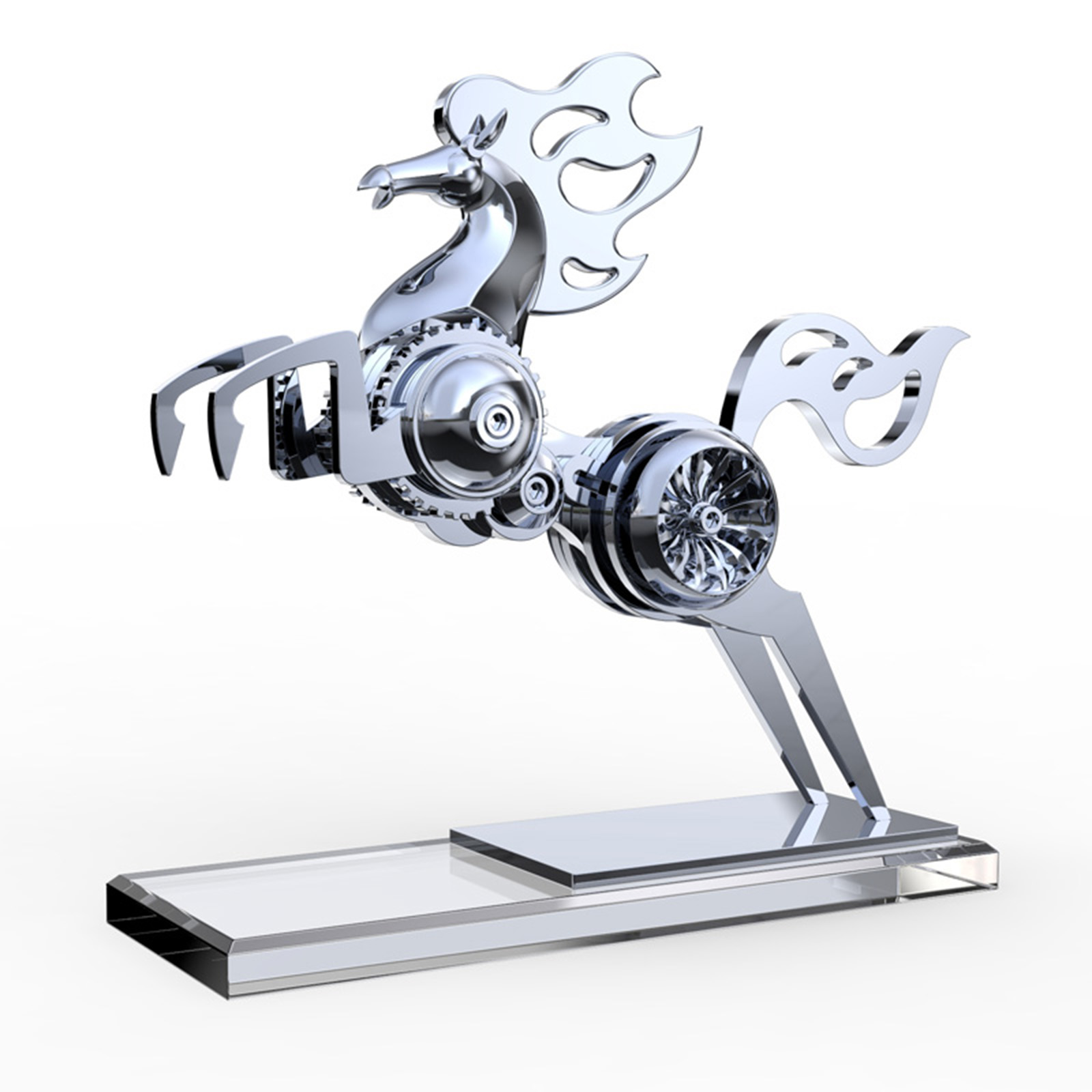 Static Mechanical Horse Metal Animal Model