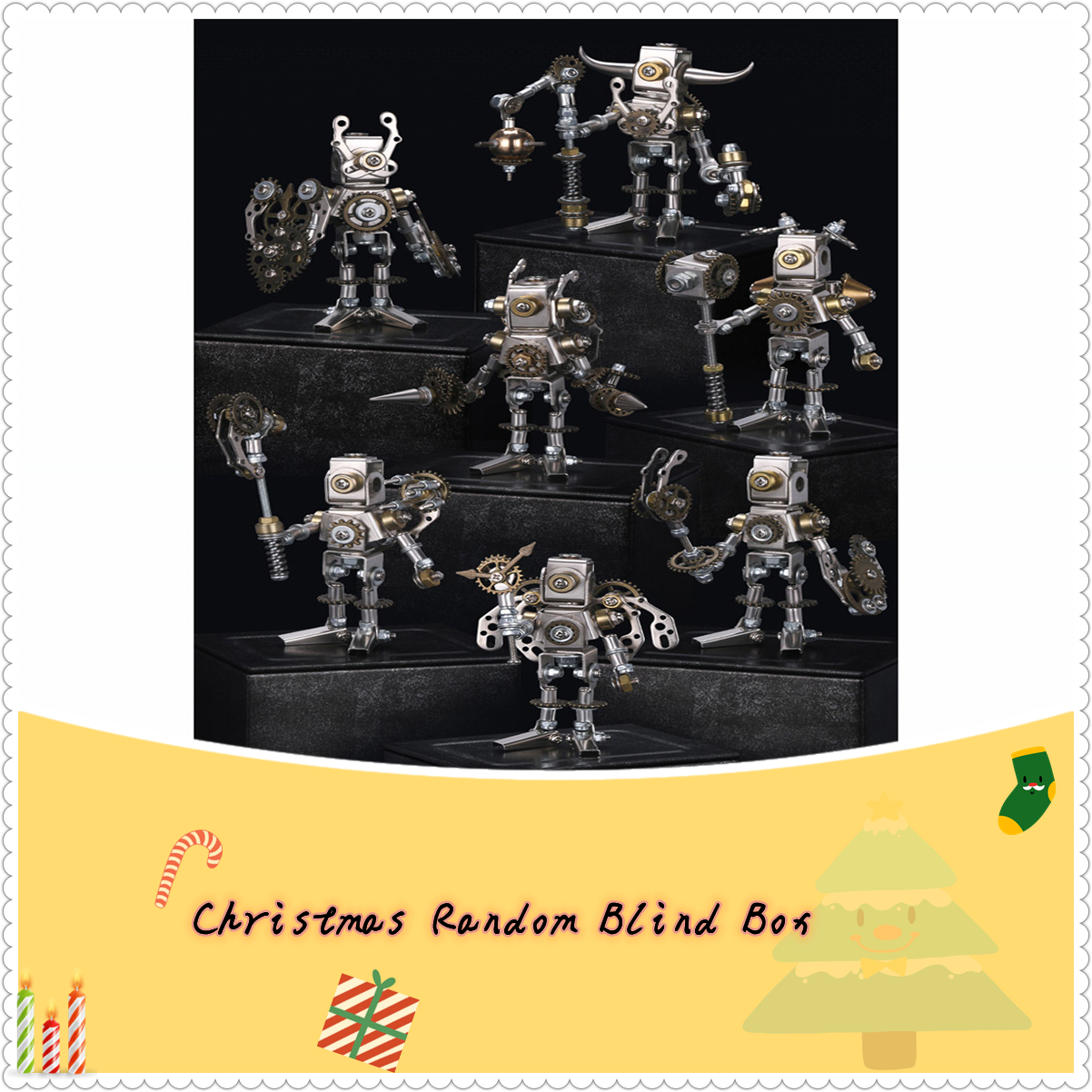 Mechanical Saints Blind Box 3D Puzzle DIY Metal Assembly Model Kit - Random Delivery