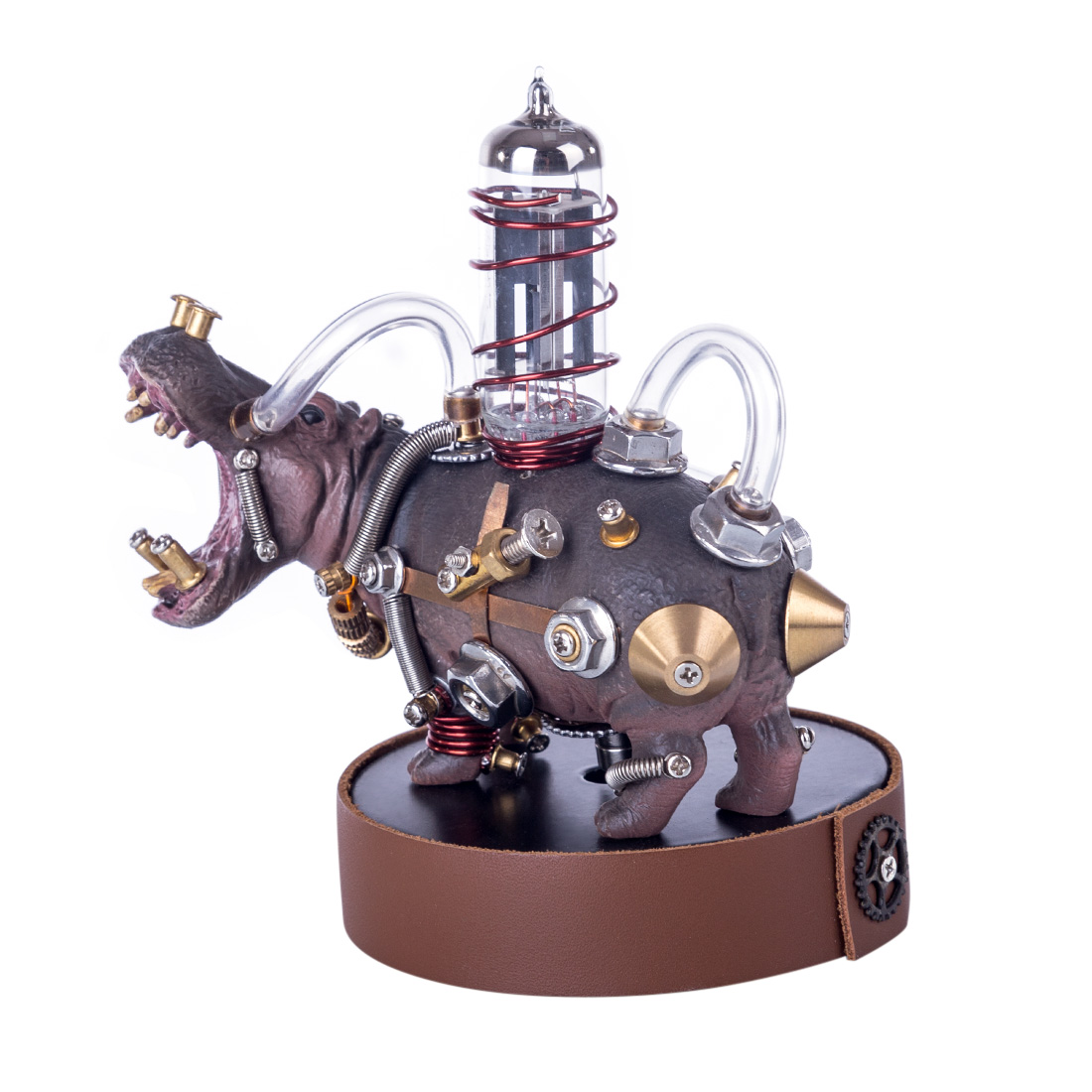 Mechanical Hippo 3D Puzzle 105Pcs DIY Metal Variant Beast Assembly Model Kit
