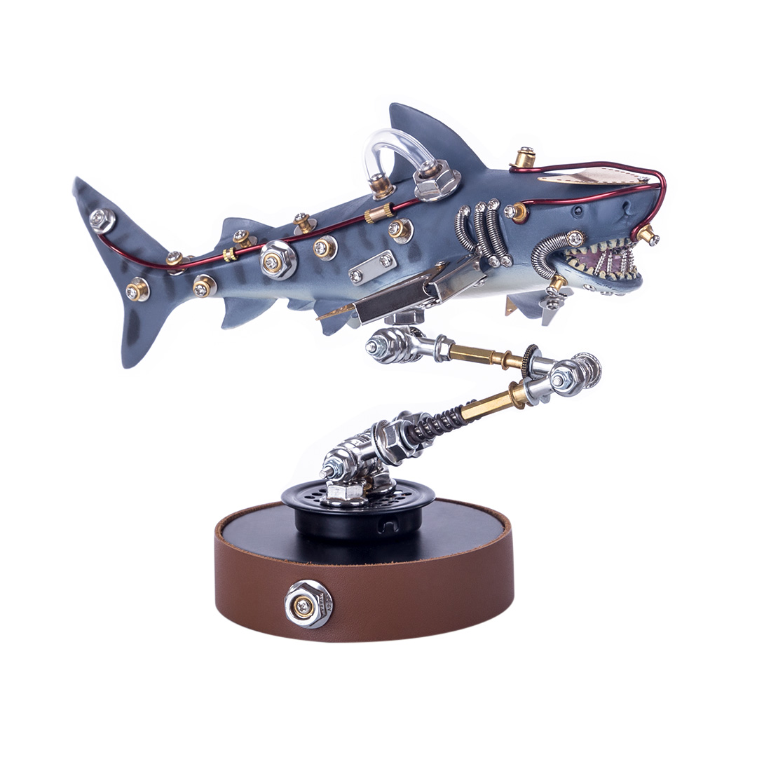 Mechanical Shark 3D Puzzle 217Pcs DIY Metal Variant Beast Assembly Model Kit