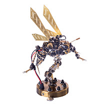 Mechanical Wasp 3D Puzzle Assembly DIY Sound Control Insect Model Kits