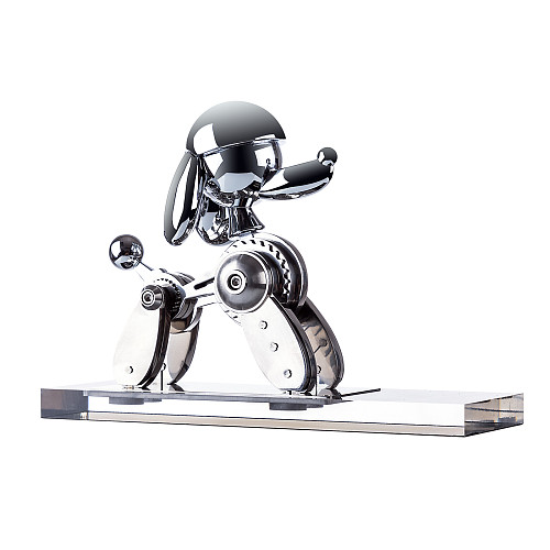 Static Mechanical Dog Metal Animal Model