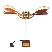 Mystery Aircraft 3D Puzzle Dynamic DIY Metal Solid Wood Mechanical Model Kits