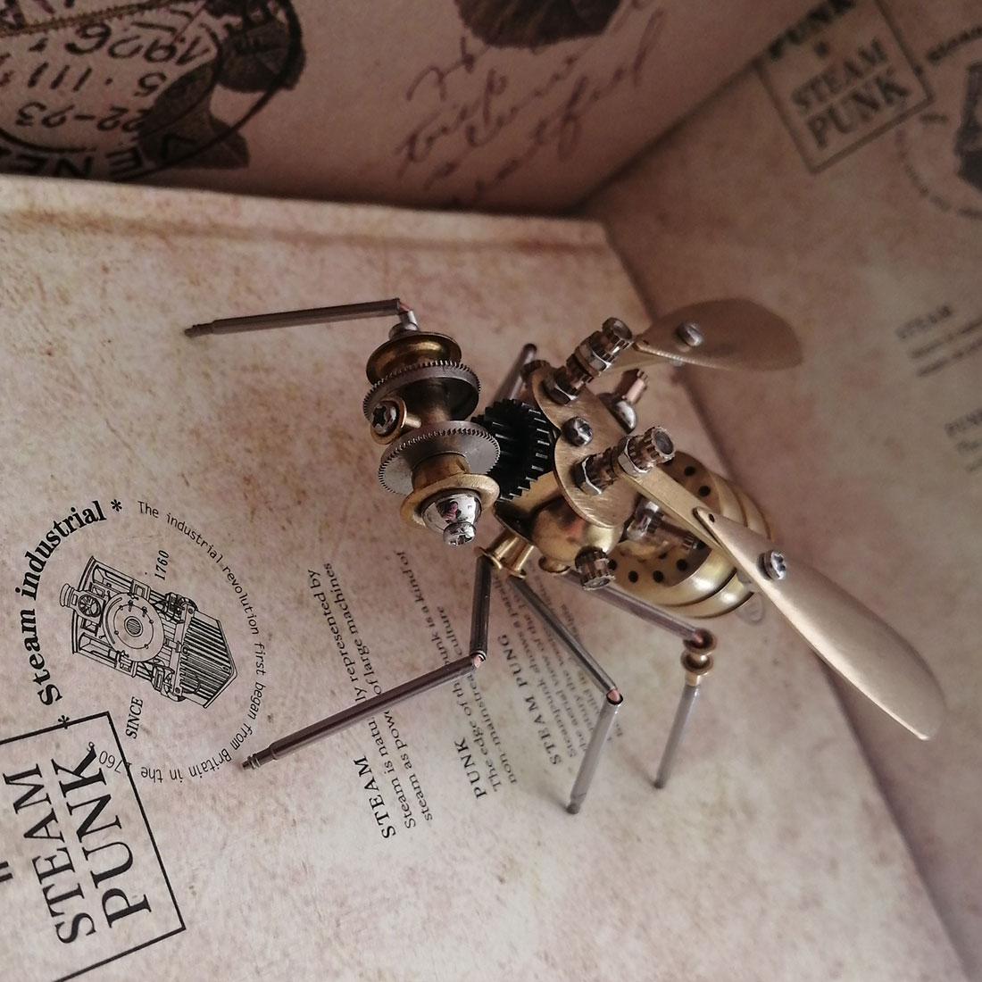 Mechanical Wasp 3D Puzzle Metal Insect Model