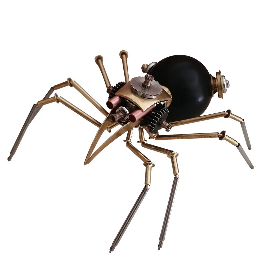 Black Spider 3D Puzzle Metal Mechanical Model Kits