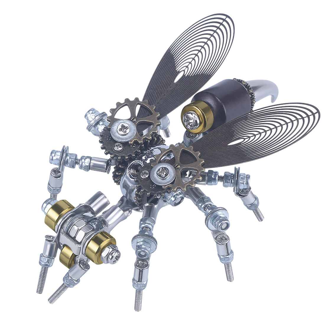 126Pcs Mechanical Wasp 3D Puzzle DIY Metal Insect Model Kit