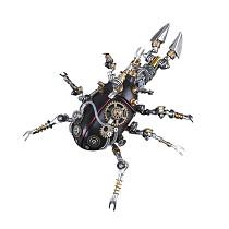 324Pcs Mechanical Unicorn 3D Puzzle DIY Metal Insect Model Kit
