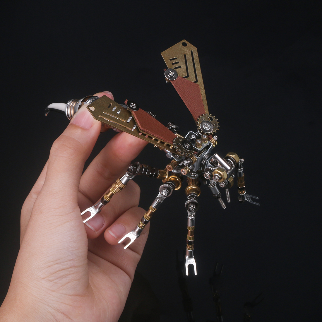 295Pcs Mechanical Wasp 3D Puzzle DIY Metal Insect Model Kit