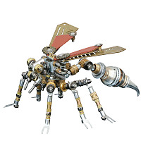 295Pcs Mechanical Wasp 3D Puzzle DIY Metal Insect Model Kit