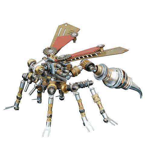 295pcs Wasp Mechanical Sculpture 3D Metal Model Kits Gaming Room Decor