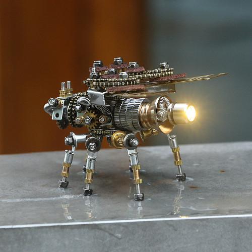 265pcs Fire Fly Mechanical Sculpture 3D Metal Model Kits Gaming Room Decor