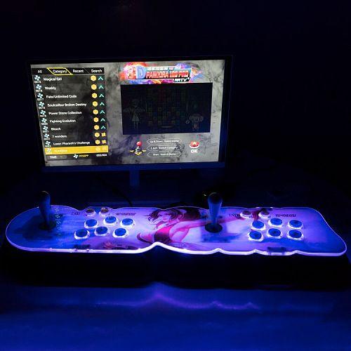 NEWEST Pandora Box 18S Pro 8000 Games LED Lighting Up WiFi Version (Artwork: Mai Shiranui)
