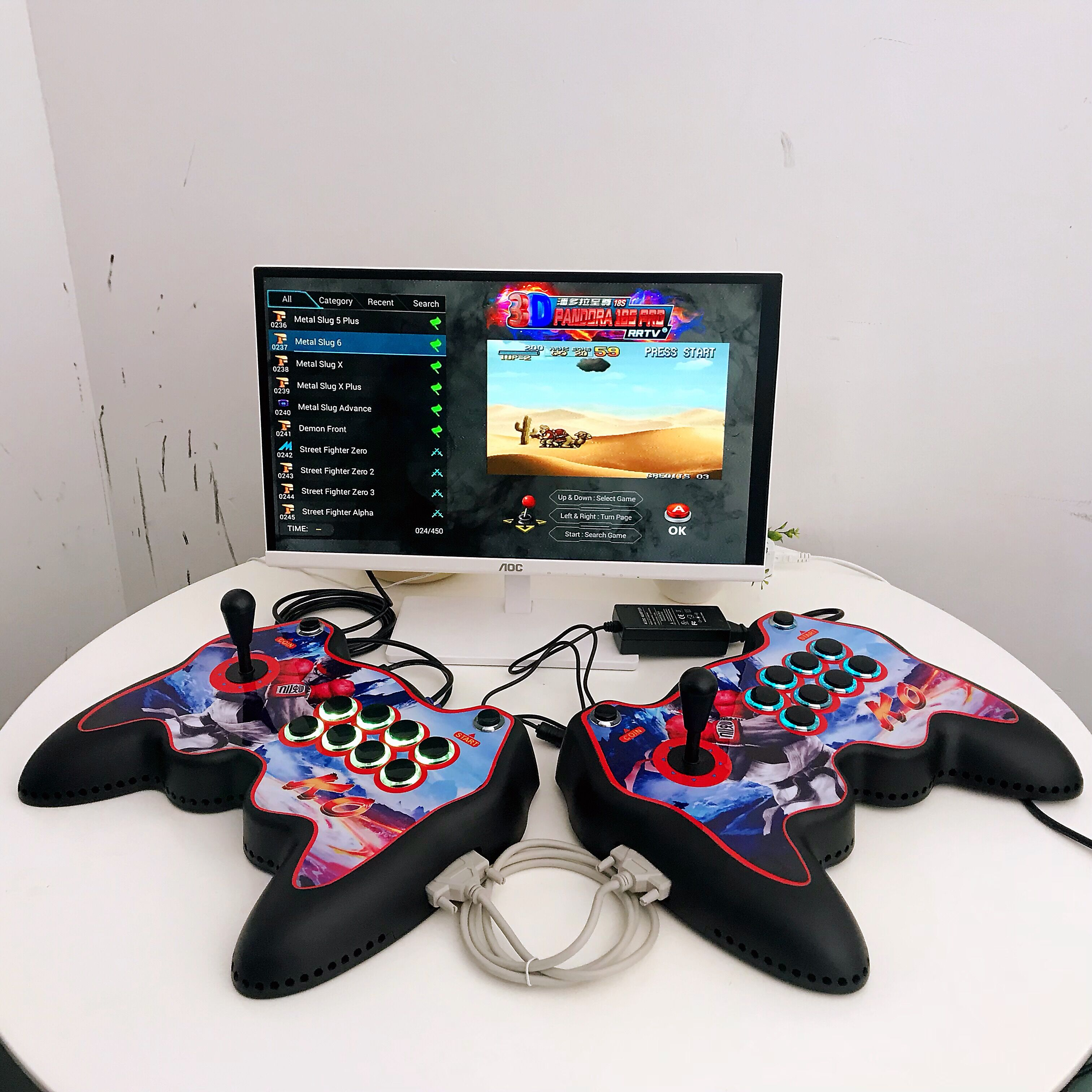 NEW Joystick Shaped Pandora Box 18S Pro 4500 Games Console Machine WiFi Version