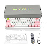 SK61S 61-Key Gateron Optical Brown Switch Mechanical Keyboard Bluetooth USB Dual-Mode PBT Keycaps RGB Backlit for Gaming /Win /Mac