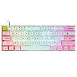 SK61S 61-Key Gateron Optical Black Switch Mechanical Keyboard Bluetooth USB Dual-Mode PBT Keycaps RGB Backlit for Gaming /Win /Mac