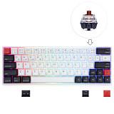 AK64S 64-Keys Mechanical Keyboard Bluetooth USB Dual-Mode PBT Keycaps with RGB Backlit for Win/Mac/Gaming