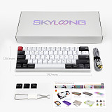 AK61 61-Keys Mechanical Keyboard Wired Mode PBT Keycaps with RGB Backlit for Win/Mac/Gaming