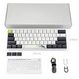 SK61 61 Keys Mechanical Gaming Keyboard Wired Type-C RGB Backlit Panda Pattern (GSA Dye-sub PBT Keycaps)