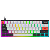 SK61S 61 Keys Mechanical Gaming Keyboard Bluetooth USB Mode RGB Backlit (Slicone Keycaps)