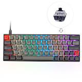 SK64 64 Keys Mechanical Gaming Keyboard Wired Mode GSA Dye-sub PBT Keycaps RGB Backlit