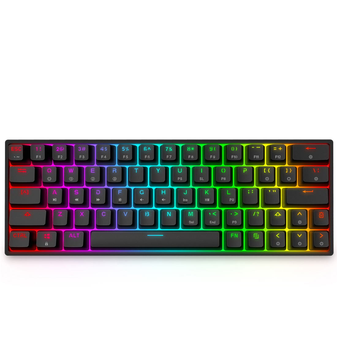 SK64 64-Key Gaming Mechanical Keyboard Wired RGB LED Backlit Programmable