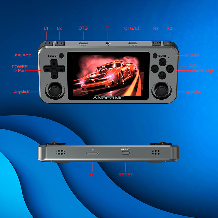 Anbernic RG351M Metal Version Handheld Built-in Games Open Source Linux System Retro Console WiFi Module IPS Screen 3.5-Inch