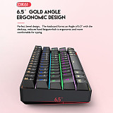 DIK61 61-Key Gaming Mechanical Keyboard Plug and Play Bluetooth Wired Dual-mode for Tablets /PC /Cellphone