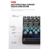 DIK61 61-Key Gaming Mechanical Keyboard Bluetooth Wired Dual-mode for Tablets /PC /Cellphone