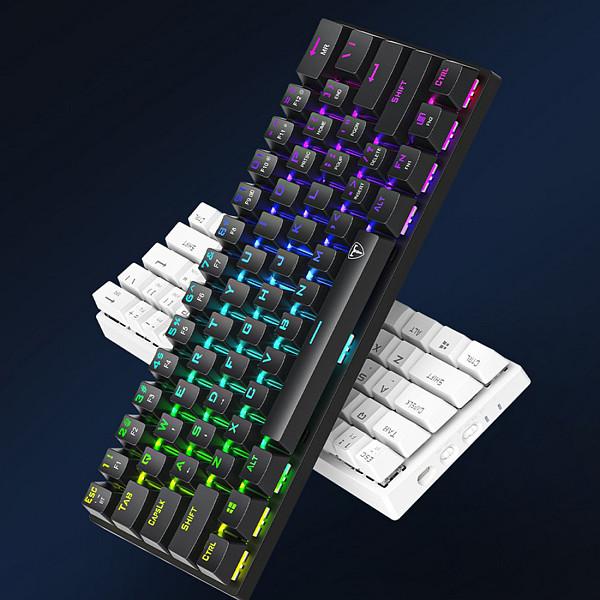 ET61 61-Key Gaming Mechanical Keyboard Wireless Bluetooth+Wired Dual-mode RGB Backlit