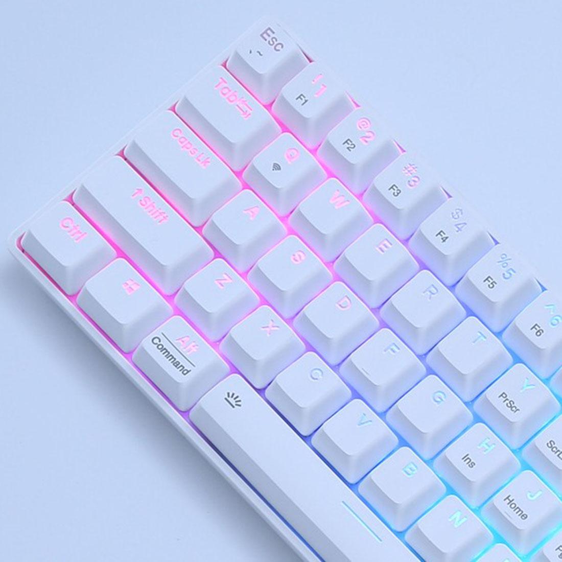 EK861 61-Key Gaming Mechanical Keyboard WirelessBluetooth+Wired Dual-mode RGB Backlit for Windows/Mac/Andoid