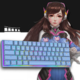 MK21 61-Key Gaming Mechanical Keyboard Wired RGB Backlit for Windows /Mac /Andoid