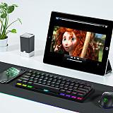 ET61 61-Key Gaming Mechanical Keyboard WirelessBluetooth+Wired Dual-mode RGB Backlit for Windows /Mac /Andoid