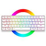 EK861 61-Key Gaming Mechanical Keyboard WirelessBluetooth+Wired Dual-mode RGB Backlit for Windows /Mac /Andoid